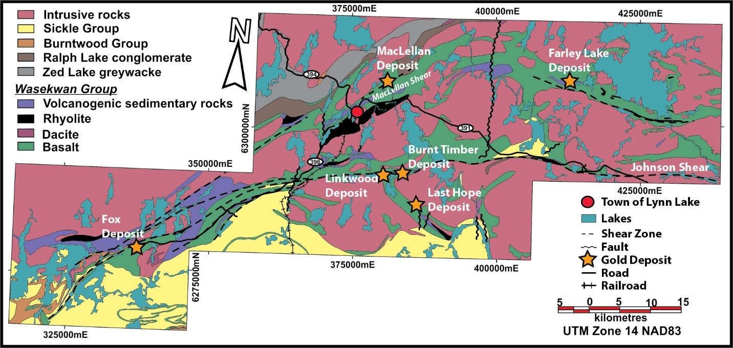 Evan studies how major rock structures control the distribution of this map outlines gold deposits associated with major structures in the lynn lake greenstone belt where evan conducted his research gumiabroncs Images